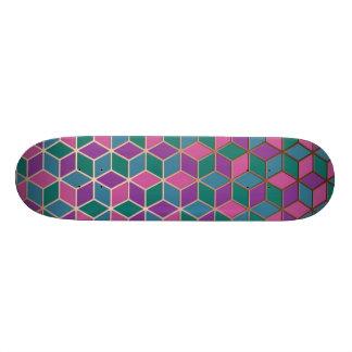 3D Cubes Skate Deck