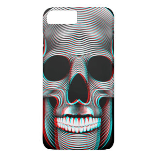 3D Customizable Retro Skull iPhone 8 Plus/7 Plus Case