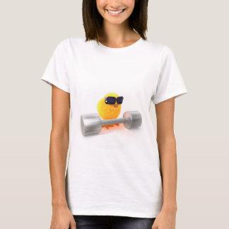 3d Cute Chick Weightlifter T-Shirt