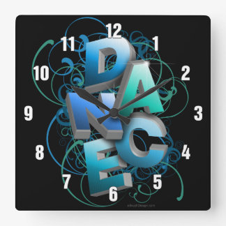 3D Dance (spring) Square Wall Clock
