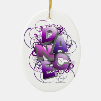 3D Dance (Summer) Ceramic Ornament