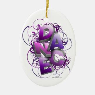 3D Dance (Summer) Ceramic Oval Ornament