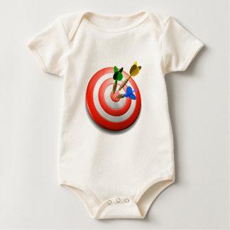 3D Darts BullsEYE Onesey Baby Bodysuit
