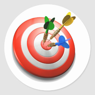 3D Darts BullsEYE Sticker