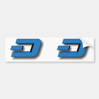 3D DASH Logo Bumper Sticker