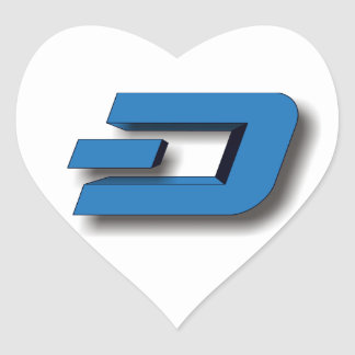 3D DASH Logo Heart Sticker