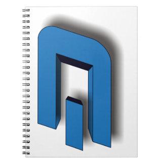 3D DASH Logo Notebooks