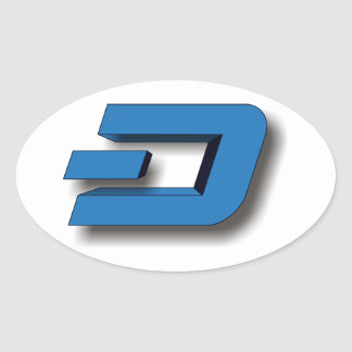 3D DASH Logo Oval Sticker