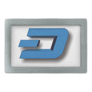3D DASH Logo Rectangular Belt Buckles