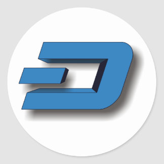 3D DASH Logo Round Sticker