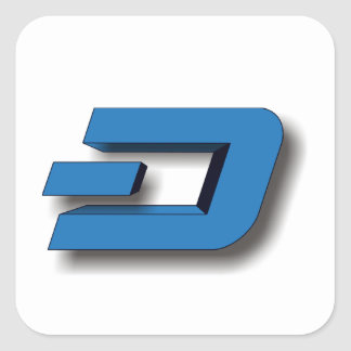 3D DASH Logo Square Sticker