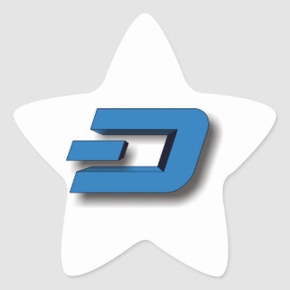 3D DASH Logo Star Sticker