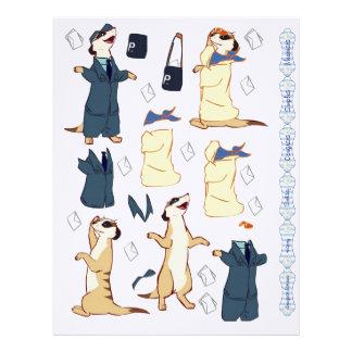 3D Decoupage - Meerkat Bride postman & artist Personalized Letterhead
