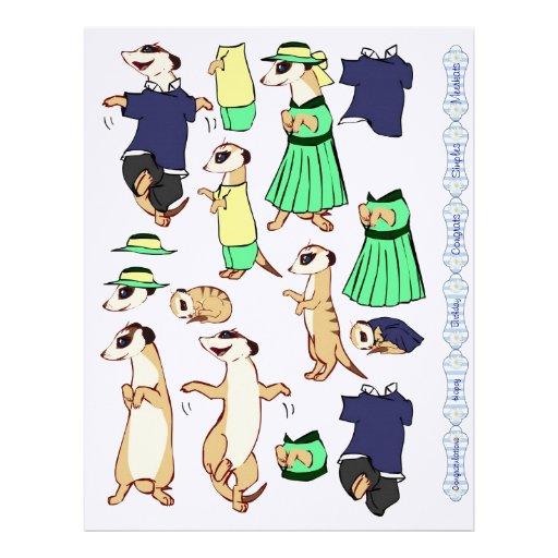 3D Decoupage - Meerkat children Personalized Letterhead