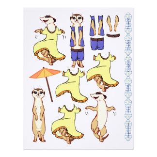 3D Decoupage - Meerkat dancing and country Custom Letterhead