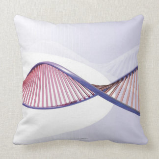 3D DNA Sweep Throw Pillow