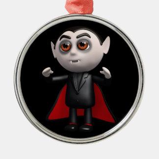 3d Dracula Stands! Metal Ornament