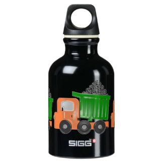 3D Dump Truck (orange) Water Bottle