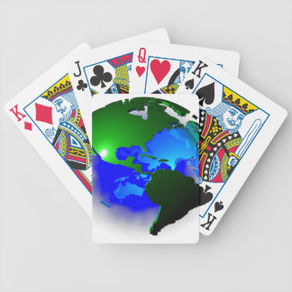 3d earth bicycle playing cards