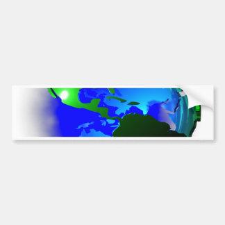 3d earth bumper sticker