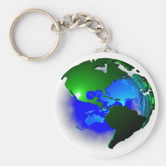 3d earth keychain