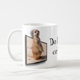 3D effect Do I Smell Coffe? Meerkat Waking Up Coffee Mug