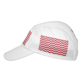 3D Effect Red Holiday Zigzag Pattern Headsweats Hat