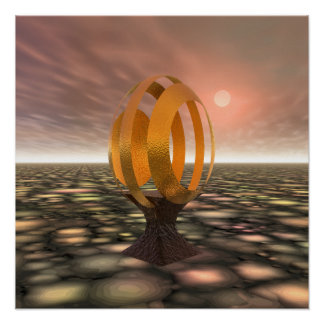 3D Egg Sparkle! Poster