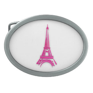3d Eiffel tower, France clipart Belt Buckles