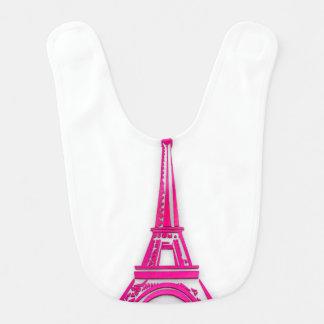 3d Eiffel tower, France clipart Bib
