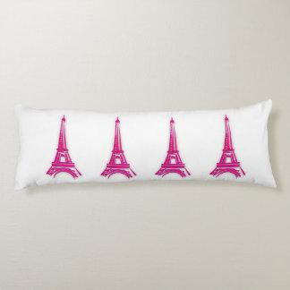3d Eiffel tower, France clipart Body Pillow