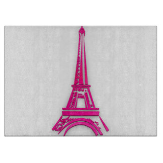 3d Eiffel tower, France clipart Cutting Board