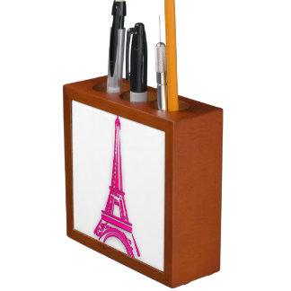 3d Eiffel tower, France clipart Desk Organizer