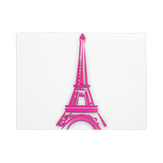 3d Eiffel tower, France clipart Doormat