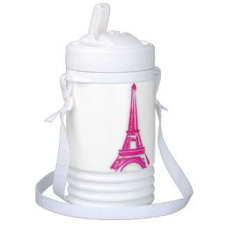 3d Eiffel tower, France clipart Drinks Cooler