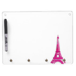 3d Eiffel tower, France clipart Dry Erase Board With Keychain Holder