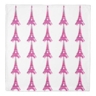 3d Eiffel tower, France clipart Duvet Cover