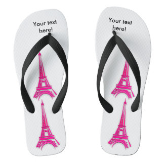 3d Eiffel tower, France clipart Flip Flops