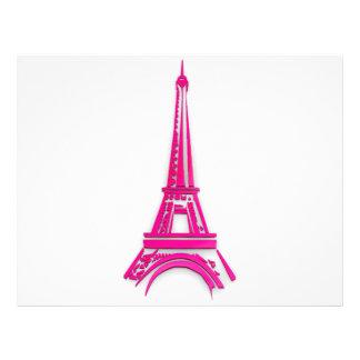 3d Eiffel tower, France clipart Flyer