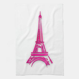 3d Eiffel tower, France clipart Hand Towel