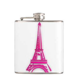 3d Eiffel tower, France clipart Hip Flask