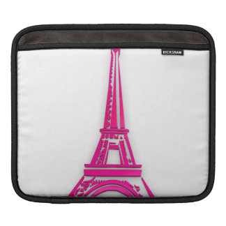 3d Eiffel tower, France clipart iPad Sleeve