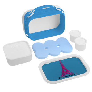 3d Eiffel tower, France clipart Lunch Box