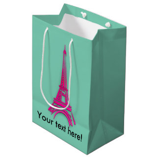3d Eiffel tower, France clipart Medium Gift Bag