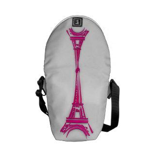 3d Eiffel tower, France clipart Messenger Bag