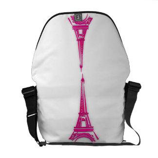 3d Eiffel tower, France clipart Messenger Bags