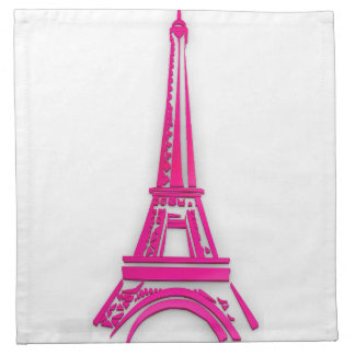 3d Eiffel tower, France clipart Napkin