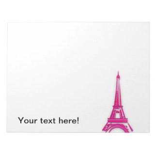 3d Eiffel tower, France clipart Notepad