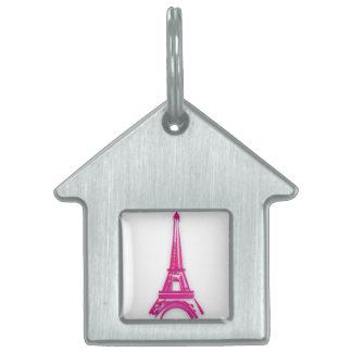 3d Eiffel tower, France clipart Pet Name Tag