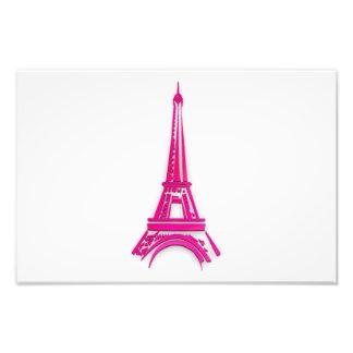 3d Eiffel tower, France clipart Photo Print